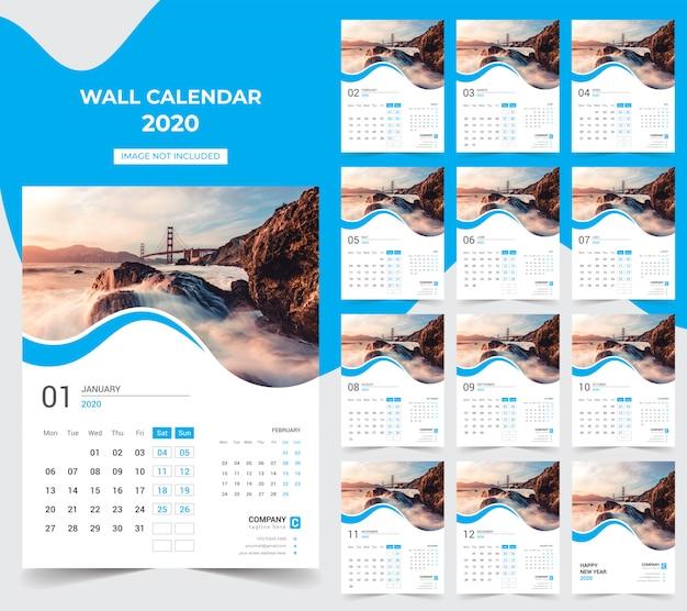 Kalendarz ścienny 2020