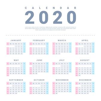 Kalendarz ścienny creative 2020