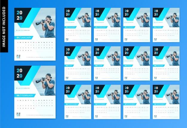 Kalendarz ścienny fotografii 2020