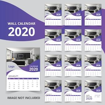 Kalendarz ścienny na nowy rok 2020 12 stron