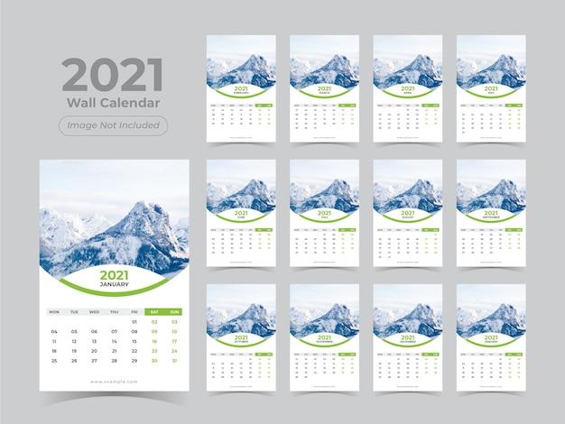 Kalendarz ścienny Na Nowy Rok Premium Wektorów