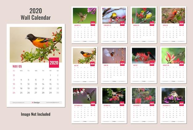Kalendarz ścienny na rok 2020