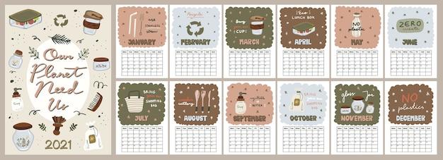 Kalendarz śliczny pastelowych kolorów.
