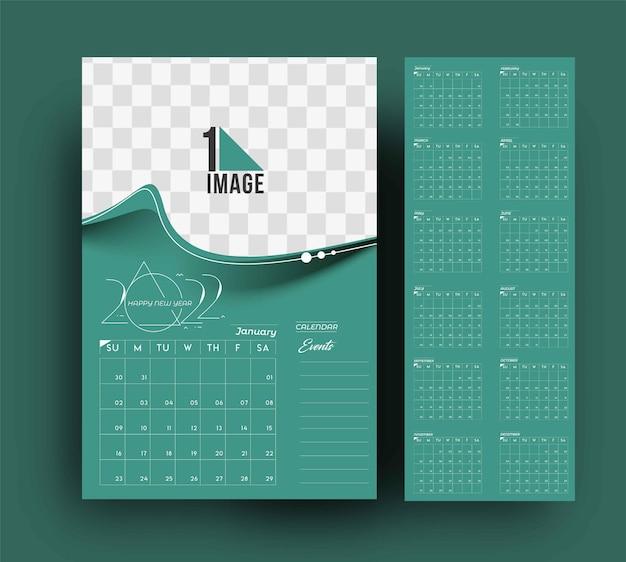 Kalendarz szczęśliwego nowego roku 2022