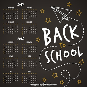 Kalendarz szkoły zabawy z płaszczyzną papieru