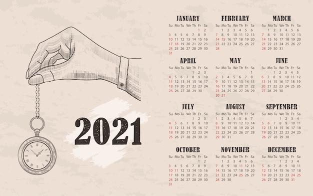Kalendarz w stylu vintage.