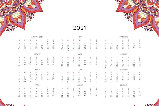 Kalendarz z mandalami.