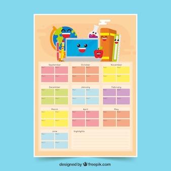 Kalendarze i materiały szkolne z buźkami