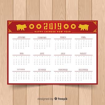 Kalendarze obchodów chińskiego nowego roku ze świniami