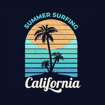 Kalifornia. letnie surfowanie.