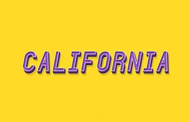 Kalifornia tekst z 3d efekt izometryczny