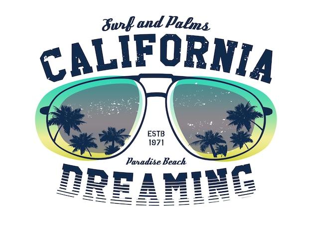 Kalifornijska kompozycja surferów. vintage ilustracji