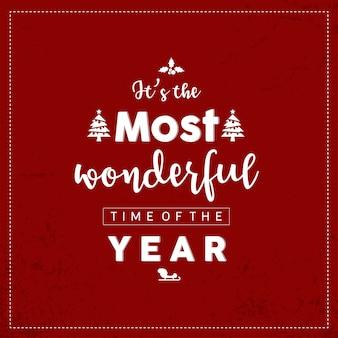 Kaligrafia na czerwonym tle. cytuj o życzeniach świątecznych i noworocznych.