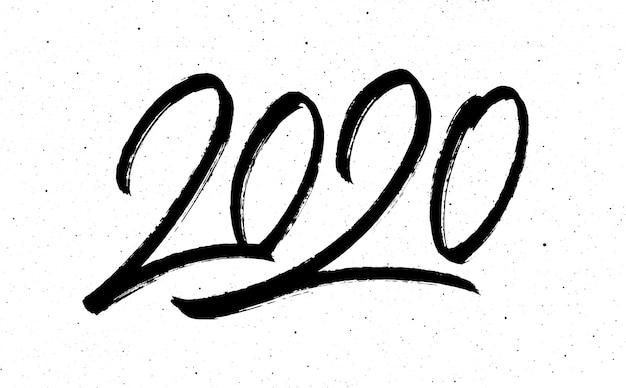 Kaligrafia na rok 2020 nowy rok szczura