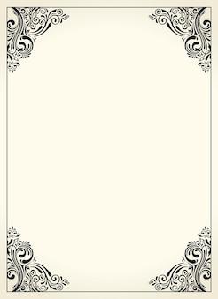 Kaligraficzna ramka obramowania