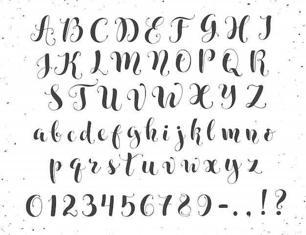 Kaligraficzne litery skryptowe