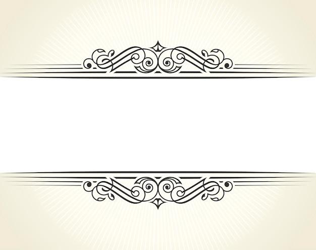 Kaligraficzny szablon na białym tle dla karty z zaproszeniem