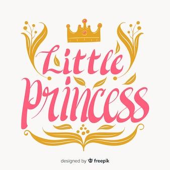 Kaligraficzny tło księżniczka