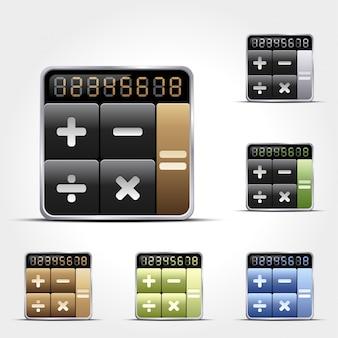 Kalkulator na białym tle