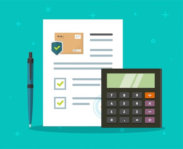 Kalkulator ubezpieczenia przesyłki dla dostawy ładunku i transportu paczki