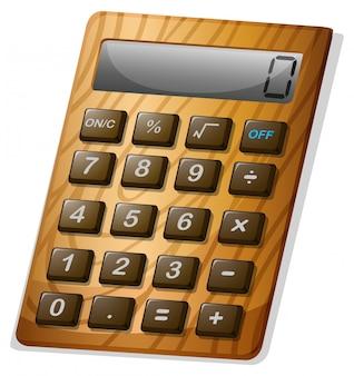 Kalkulator z drewnianą ramą