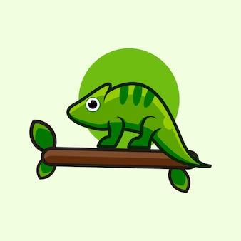Kameleon streszczenie logo projekt wektor płaski kolor