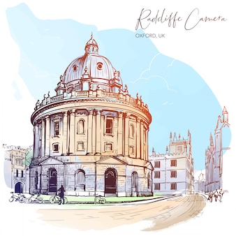 Kamera radcliffe. westminster, londyn, wielka brytania. doskonały przykład architektury palladiańskiej.