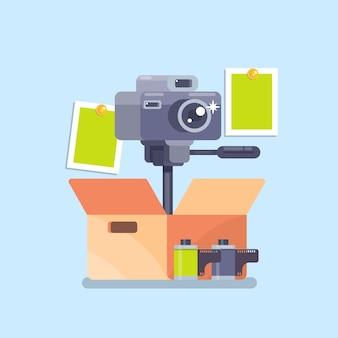 Kamera wyposażenia mieszkania odosobniona wektorowa ilustracja