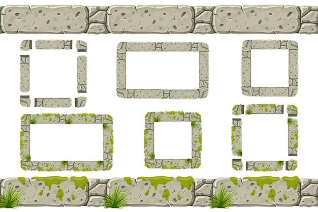 Kamień budowlany obramowanie i ramki