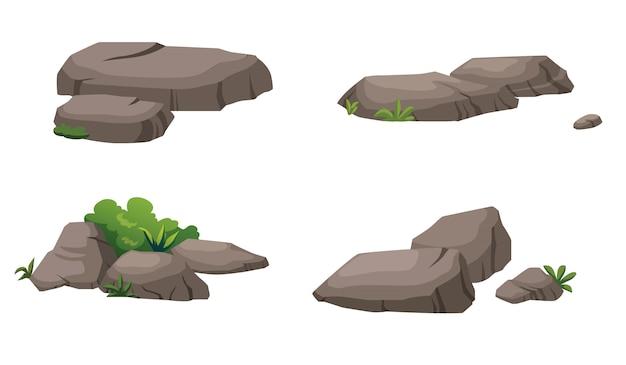 Kamienie i krzewy pięknie zdobią ogród.