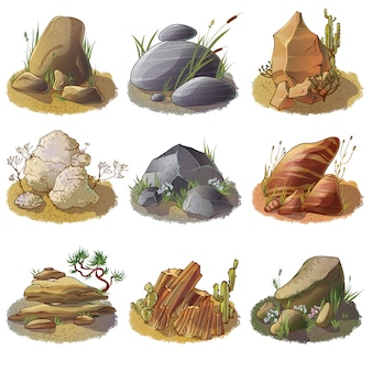 Kamienie mineralne w kolekcji naziemnej