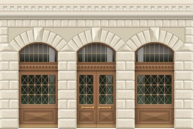 Kamienna fasada zakładu