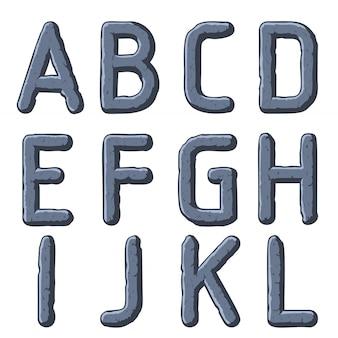 Kamienne rzeźbione litery