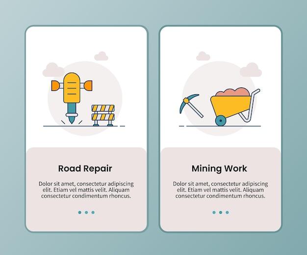 Kampania robót górniczych przy remontach dróg w celu wdrożenia szablonów aplikacji mobilnych