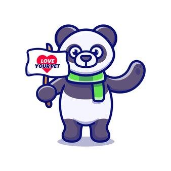 Kampania słodkiej pandy, aby pokochać swojego zwierzaka