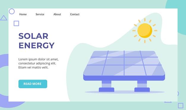 Kampania słoneczna z ogniwami słonecznymi dla strony internetowej