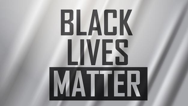 Kampania uświadamiająca przeciwko dyskryminacji rasowej nie mogę oddychać plakat banner czarne życie ma znaczenie