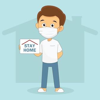 Kampania wirusa corona covid-19 mająca na celu pozostanie w domu