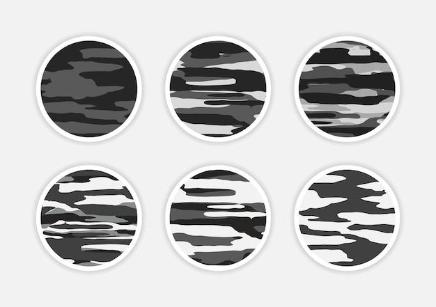 Kamuflaż abstrakcyjna okładka instagram