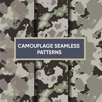 Kamuflaż wojskowy bezszwowy wzór premium wektorów