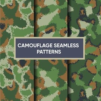 Kamuflaż Wojskowy Bezszwowy Wzór Premium Wektorów Premium Wektorów