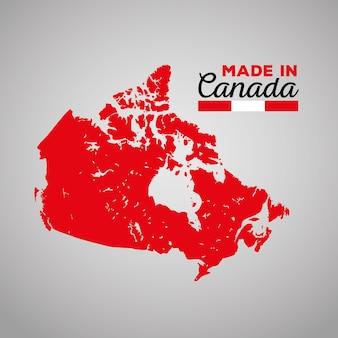 Kanadyjska mapa sylwetka ikona wektor ilustracja projektu