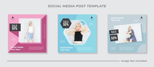 Kanał na instagramie w mediach społecznościowych po sprzedaży mody