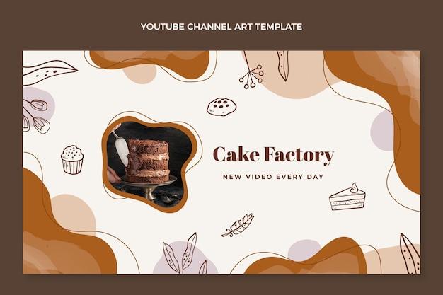 Kanał youtube z ręcznie rysowaną fabryką ciast