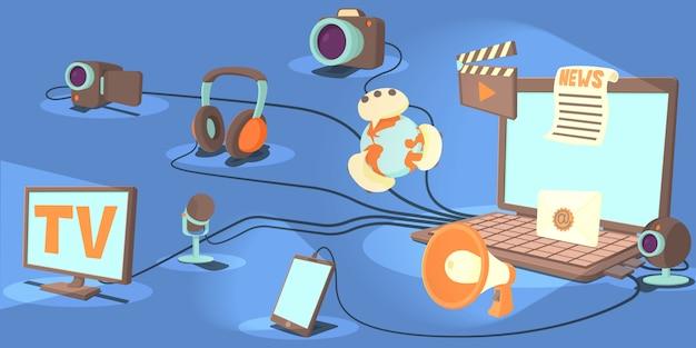 Kanały z poziomymi banerami multimedialnymi
