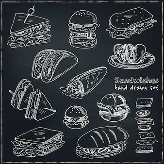Kanapka klubowa cheeseburger hamburger deli wrap roll taco bagietka bajgiel toast