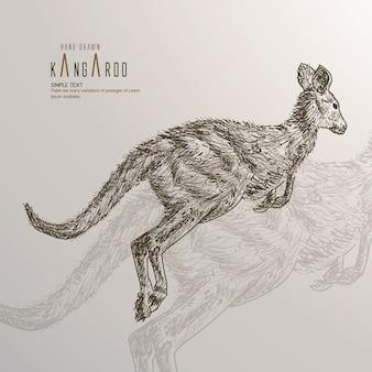 Kangur. r? cznie rysowane ilustracji.