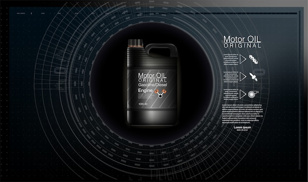 Kanistry oleju silnikowego i oleju samochodowego na białym tle.