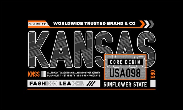 Kansas Core Denim Wektor Premium Premium Wektorów