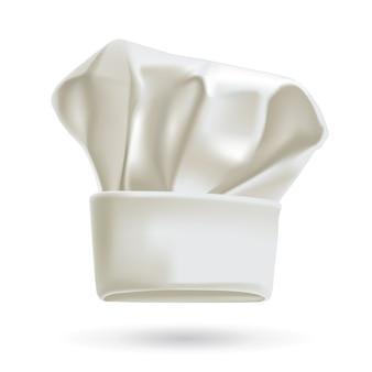 Kapelusz biały kucharz realistyczne ilustracja